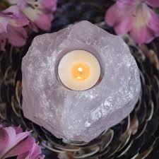 light holder natural rose quartz tea light holders to infuse your candle