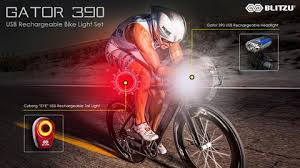 brightest bicycle tail light blitzu gator 390 usb rechargeable headlight tail light set cycling