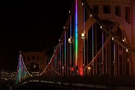 energy flow lighting on the carson bridge riverlife