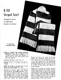 striped scarf pattern archives vintage crafts and more