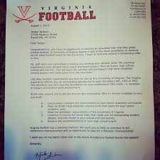 Awesome College Acceptance Letter What College Football Scholarship Letters Look Like The Bad