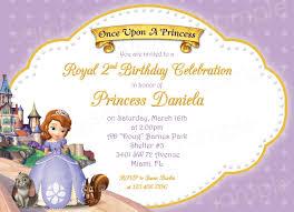 Birthday Invitation Cards For Friends Princess Sofia Birthday Invitations Ideas U2013 Bagvania Free
