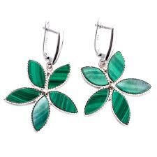 emerald drop earrings emerald flower malachite drop earrings product sku y 157063