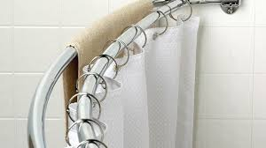 Shower Curtain For Curved Rod Brilliant Curved Shower Curtain Rods Small Bathroom Pinterest In