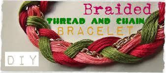 bracelet braid thread images Diy fashion braided thread and chain bracelet jpg