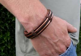 copper bracelet mens images Men 39 s copper bracelet men 39 s leather bracelet jpg