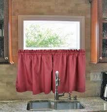 Solid Color Curtains Stacey Solid Color Tailored Tiers Kitchen Window Curtains Window