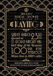 gatsby invitations great gatsby bridal shower invitations kawaiitheo