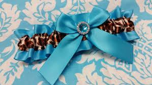 Blue Leopard Print Blue Leopard Print Wedding Garter
