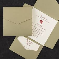 wedding invitation pockets gold pocket self mailer invitation pockets carlson craft