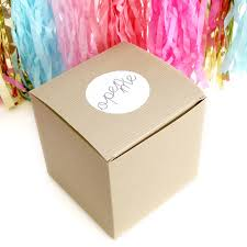 balloon in a box personalised baby announcement balloon by blossom