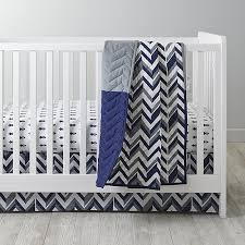 Gray And White Chevron Crib Bedding Blue Chevron Crib Bedding Crate And Barrel
