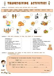 thanksgiving games printable 119 free esl thanksgiving worksheets