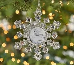 lhuillier snowflake frame ornament pottery barn