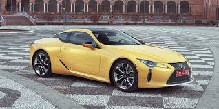 lexus yellow convertible 2018 lexus lc vehicles on display chicago auto show