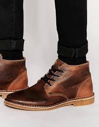 image 1 of jack u0026 jones gene leather desert boots my style