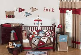 Pink And Brown Curtains For Nursery by All Star Sports Baby Boy Crib Bedding 9pc Nursery Set Red Brown Blue