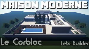 Maison Modern Minecraft by Minecraft Maison Moderne Youtube