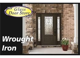 Front Exterior Door Wrought Iron Front Entry Glass Doors The Glass Door Store Ta