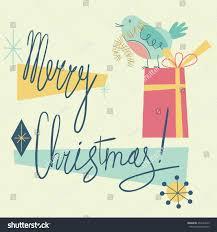 merry christmas modern merry christmas retro holiday card cute stock vector 496134523