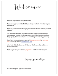 vacation home welcome book with free downloads welcome letter