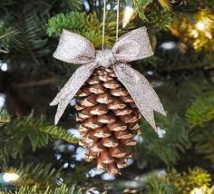 gold tipped pinecone ornament pinecone pine cone and pine