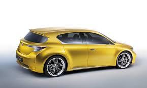 yellow lexus suv lexus lf ch hatchback concept unveiled autoevolution
