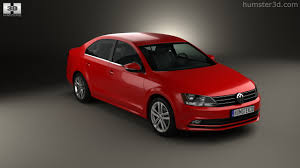 red volkswagen jetta 2015 360 view of volkswagen jetta 2015 3d model hum3d store
