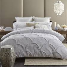 Black And White King Bedding Bedroom Textured White Duvet Cover White Ruched Duvet Cover