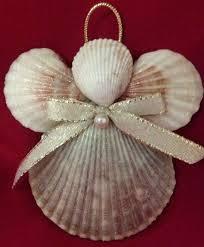 Glitter Christmas Ornaments Pinterest by Seashell Angel Christmas Ornament Beach By Cathyscoastcreations