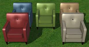 Blue Suede Chair Slig Default Sofas And Chairs