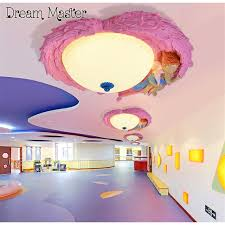 cartoon creative angel led ceiling lamp male bedroom lamp