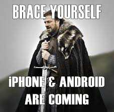 Meme Iphone - image meme iphone and android are coming jpg game of thrones