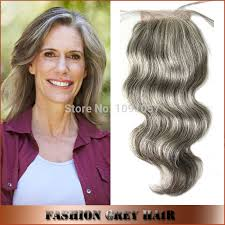 best shoo for gray hair for women 4 4inch virgin human hair brazilian body wave grey hair top