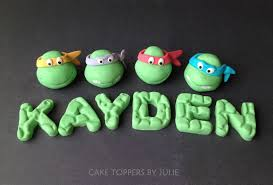 tmnt cake topper custom cakes by julie cake toppers and cupcake toppers variety