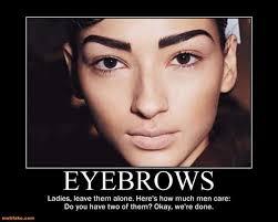 Bushy Eyebrows Meme - eyebrows demotivational poster page