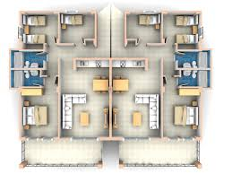 2 Story Apartment Floor Plans Well 3 Bedroom House Floor Plan 3d Further 2 Story Apartment