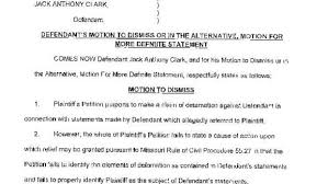 defendant u0027s motion to dismiss or motion for more definite
