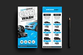 car wash dl card template for photoshop u0026 illustrator brandpacks