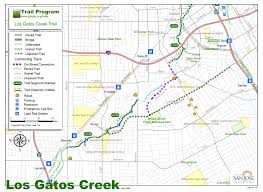 San Jose Light Rail Map by Los Gatos Creek Trail U2013 Save Our Trails
