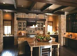 southern living kitchen ideas southern living kitchens cabinets green island granite or wood top