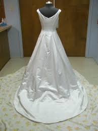 Wedding Dress Bustle How To Install A French Bustle 8 Steps