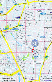 Tehran Map United Nations Information Centre Tehran