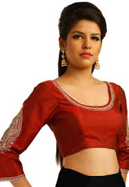 readymade blouse maroon dupion silk readymade blouse uct75 blouse designs