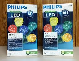 philips 60 sphere lights philips holiday 60 led multi faceted sphere lights 19 6ft 2 boxes