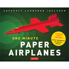 one minute paper airplanes kit tuttle publishing