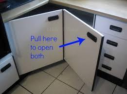 kitchen corner cabinet hinges create easy access to the kitchen corner cabinets hometalk