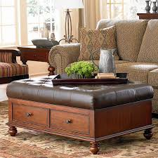 Brown Leather Ottoman Attractive Brown Leather Ottoman Coffee Table
