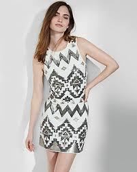 express dress southwestern sequin embellished sheath dress express