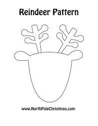29 images of reindeer pattern template infovia net